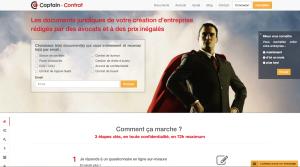 Homepage Captain Contrat