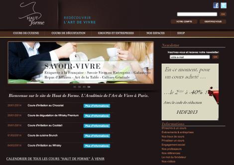 Homepage haut de forme